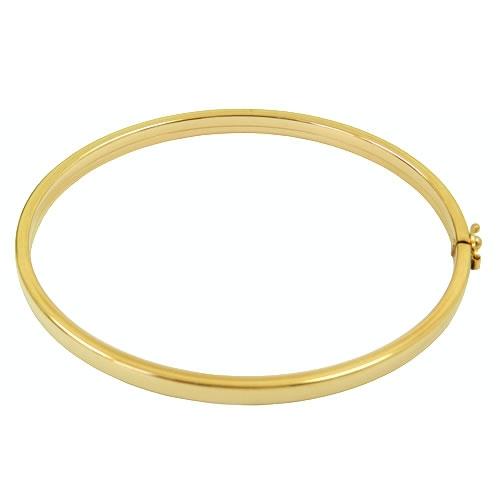 Bracelete Redondo Oco em Ouro