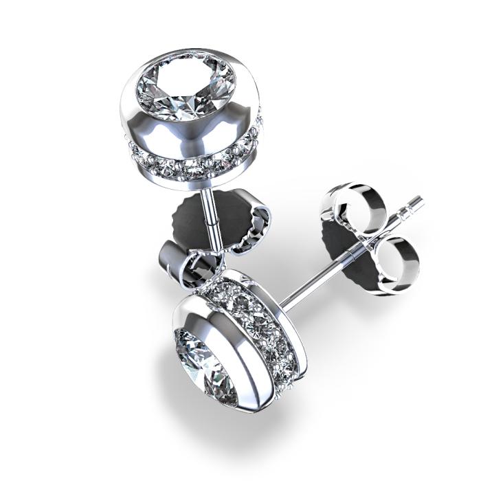 Brinco de Diamante Embutido