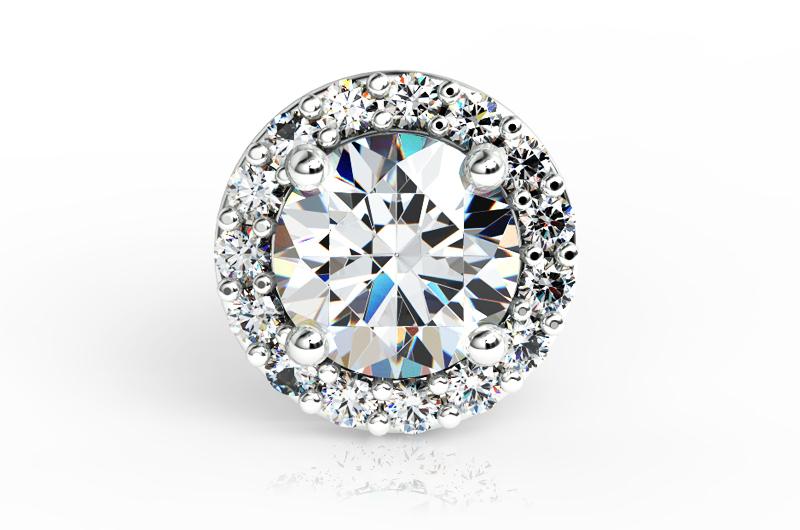 Brinco de Diamantes Intense Branco