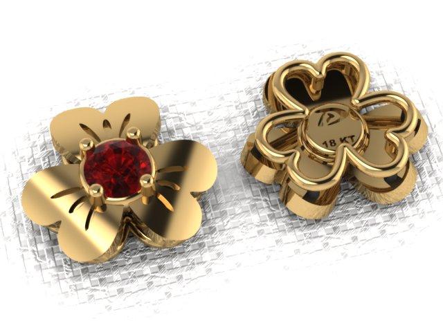 Brinco Flower Rubi