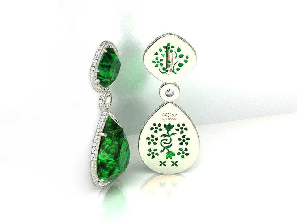 Brinco Gota Verde Nefrita Luxe
