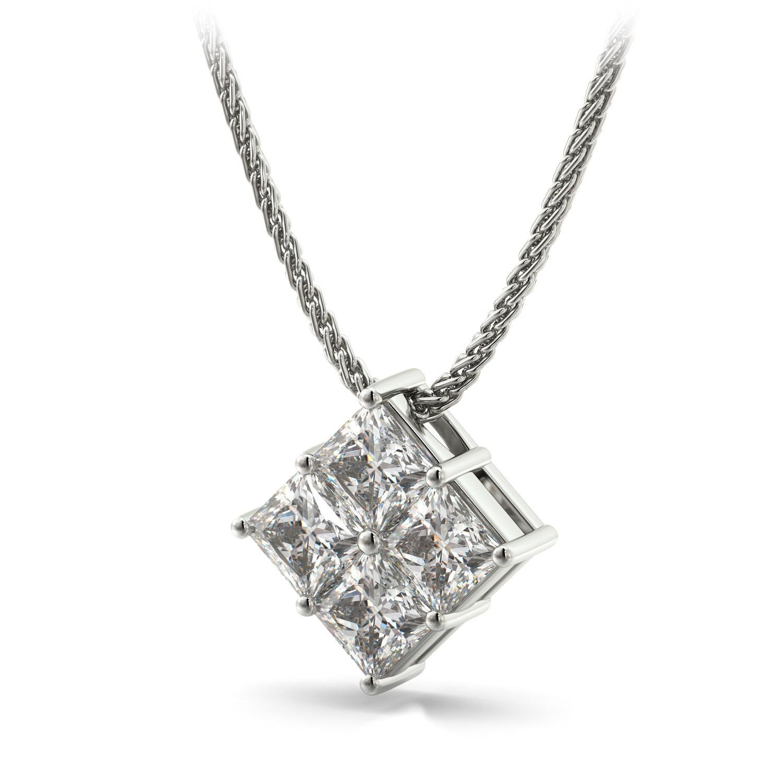 Pingente Cartier com Diamantes Quadrados