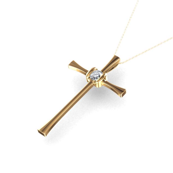 Pingente de Cruz Diamante Quadrado