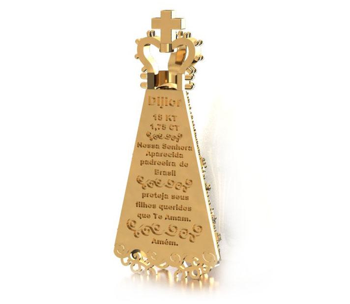 Pingente Nossa Senhora com Ora��o no Verso