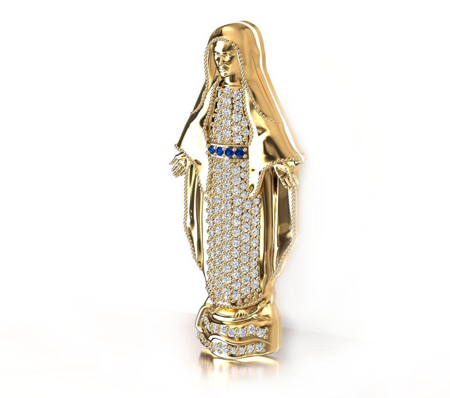 Pingente Nossa Senhora Das Gra�as com Diamantes